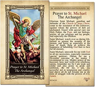 St. Michael the Archangel Laminated Prayer Card - Pack of 10