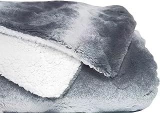 mello Plaid canape Grande Taille, Plaid Fourrure 220x240 Reversible Peau de Mouton, Couverture pour lit, Plaid Polaire Tou...