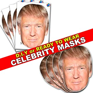 CELEBRITY CARD FACE MASK KIT - DONALD TRUMP - DO IT YOURSELF (DIY) #4