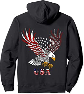 Flying Bald Eagle Shirt American Bald Eagle Patriotic Gift Pullover Hoodie