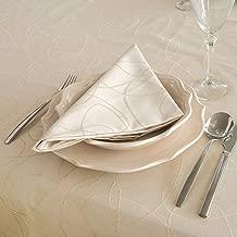 Anti taches r/ésistant R/éf Chemin de table luxe Noir lignes Lot de 2 unit/és