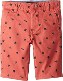 Bear Surfer Flat Front Shorts (Little Kids/Big Kids)