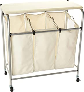 Honey-Can-Do Rolling Laundry Sorter with Ironing Board