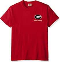 NCAA Georgia Bulldogs Adult Puff Arch Short Sleeve Tee, X-Large, Cc Red