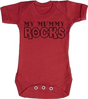 TRS - My Mummy Rocks regalo para bebé, body para bebé niño, body para bebé niña 100% Algodón
