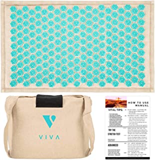 Acupressure Mat for Massage Organic Linen Cotton With Carry Bag | Back Pain Relief Neck Stress Sciatica Relief Trigger Point Relaxation Therapy Better Deeper Sleep