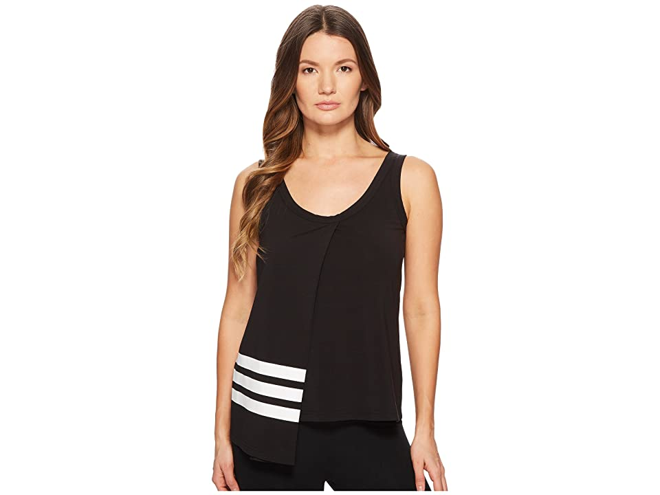 Image of adidas Y-3 by Yohji Yamamoto 3-Stripes Tank Top (Black/Core White) Women's Sleeveless