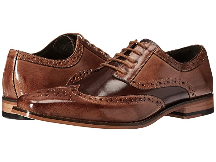 1950s Mens Shoes: Saddle Shoes, Boots, Greaser, Rockabilly Stacy Adams Tinsley Wingtip Oxford TanBrown Mens Lace up casual Shoes $86.99 AT vintagedancer.com