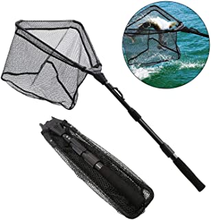 SAN LIKE Fishing Net Fishing Landing Net/Durable Rubber...