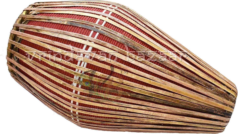 Maa Padma Farms Clay Made Mridangam//Indian folk Musical drum Mridangam//Clay Khol Mridang//Clay Mridangam for Spiritual Programs and Sankirtan Small Vrindavan
