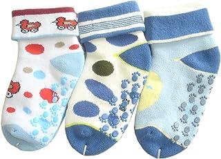 Bebés niño calcetines de toalla sin costuras (0-6M/15-16, 3 pares #1)