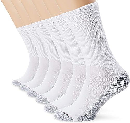 Dim Ecodim - Chaussettes de sport - Lot de 6 paires - Homme - Blanc - 40-45