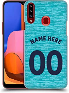 Custom Customized Personalized Newcastle United FC NUFC Third Kit 2018/19 Crest Hard Back Case Compatible for Samsung Galaxy A20s (2019)