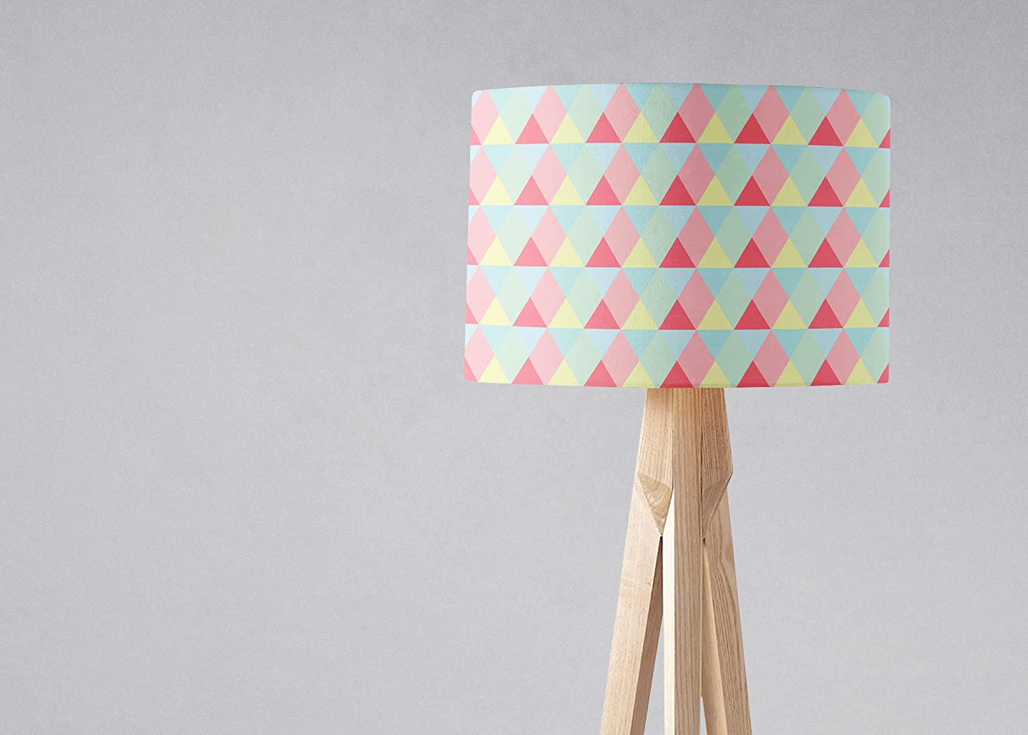 Pink and Lemon Geometric Portland Mall lampshade shade Mail order Light Triangles