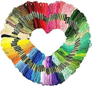 Embroidery Floss Thread Rainbow Color Cross Stitch Threads Friendship Bracelet String DIY Handmade Craft Premium Multi-Col...