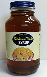 Blackburn-Made Syrup One Quart Eight Ounce Glass Container