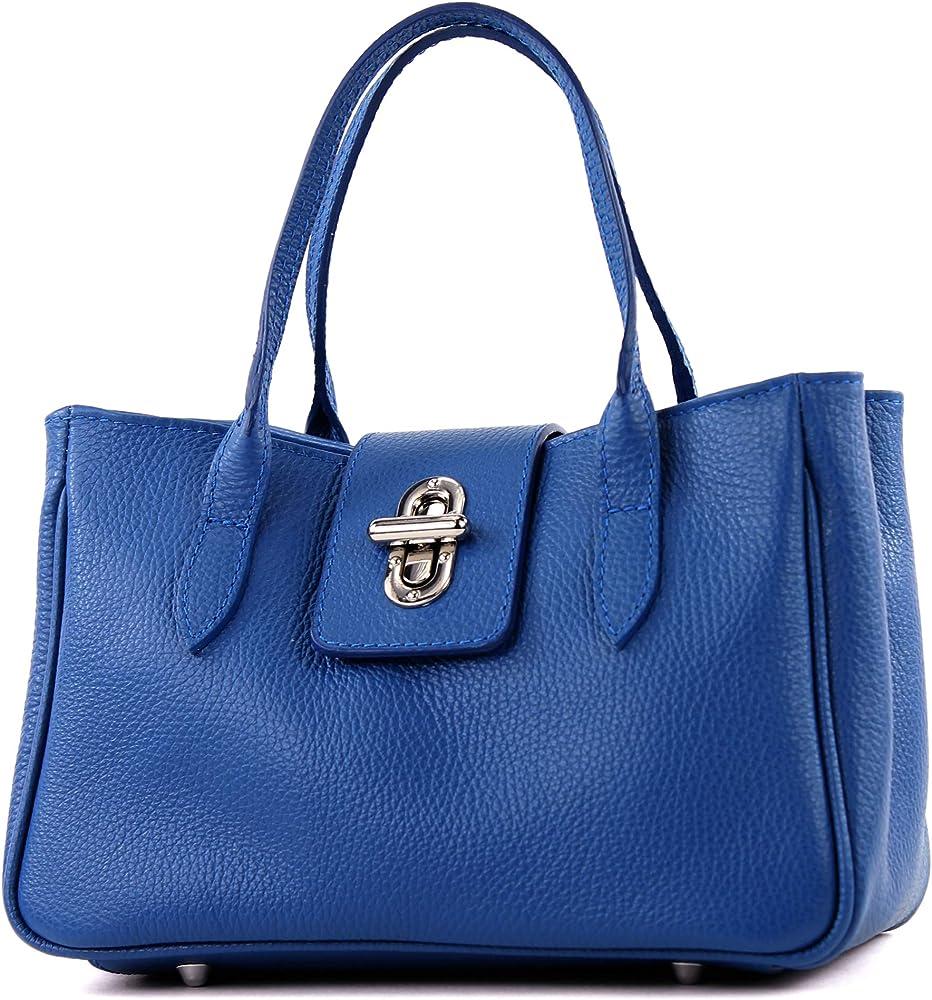 Modamoda de borsa da donna a mano in vera pelle TL03GL-BL