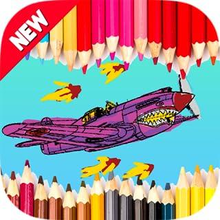 Kids Coloring WW2 Aircraft - Plane & Tank World War 2