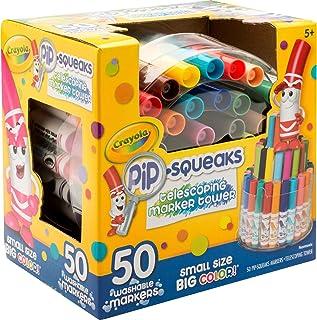 برج نشانگر تلسکوپی Pip-Squeaks Crayola 588750 ، رنگهای متناسب (مجموعه 50)
