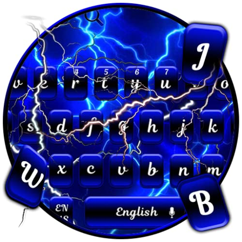 Neon Blue Speed Keyboard Theme