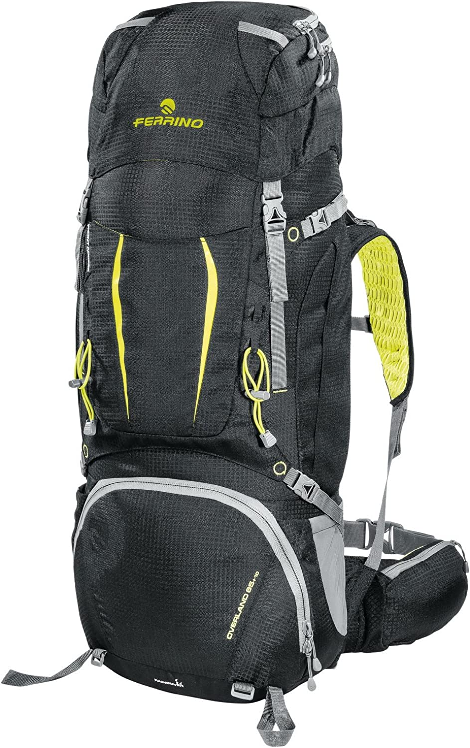Ferrino Overland 65+10 Backpack, Black