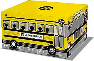 HP Printer Paper, Multipurpose20 School Bus, 8.5 x 11 Paper, Letter, 20lb Paper, 96 Bright, 1,500 Sheets / 3 Ream Carton (112030C) Acid Free Paper