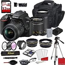 $549 » Nikon D3500 DSLR Camera with AF-P DX NIKKOR 18-55mm f/3.5-5.6G VR Lens + Nikon AF-P DX NIKKOR 70-300mm f/4.5-6.3G ED Lens + Deluxe DSLR Camera Case + 32GB Extreme Memory Bundle (25pcs)