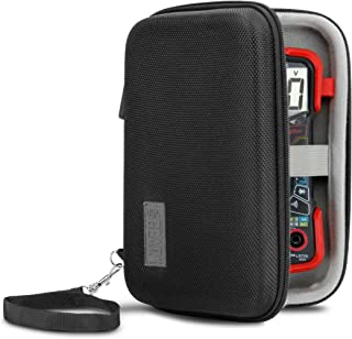 USA Gear Protective Case with Hard Shell Exterior and Wrist Strap - Compatible with Innova 3320 Digital Multimeter - Mesh Pocket Holds Cables, Batteries, Wire Strippers and More Electrical Tools