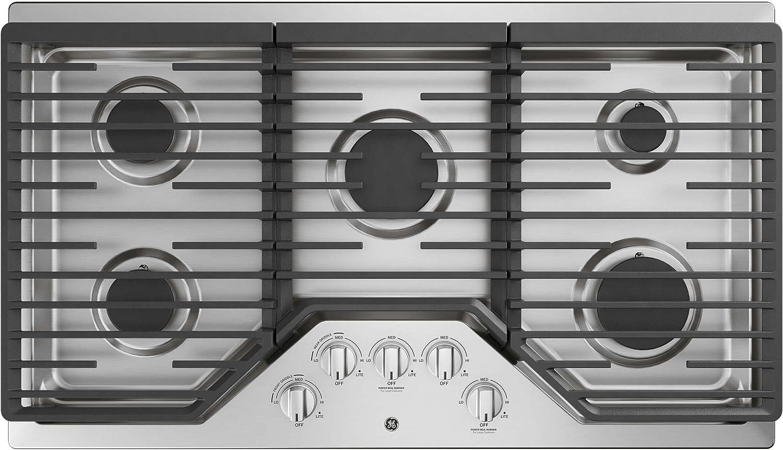 GE JGP5036SLSS 36 Built-In Gas Cooktop : Appliances