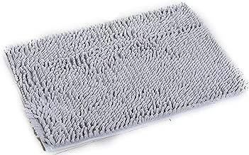 4060Cm Absorbent Microfiber Bath Mat Soft Shaggy Bathroom Mats Shower Rugs,Light Grey,400Mmx600Mm