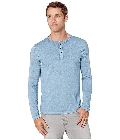 Lucky Brand Venice Burnout Henley (Allure (Light Blue)) Men