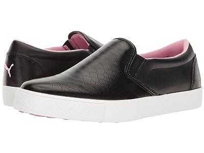 PUMA Golf Tustin Slip-On (Puma Black/Prism Pink) Women