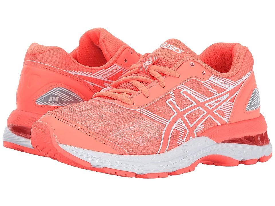 ASICS Kids GEL-Nimbus(r) 19 GS (Little Kid/Big Kid) (Flash Coral/White/Coral) Girls Shoes