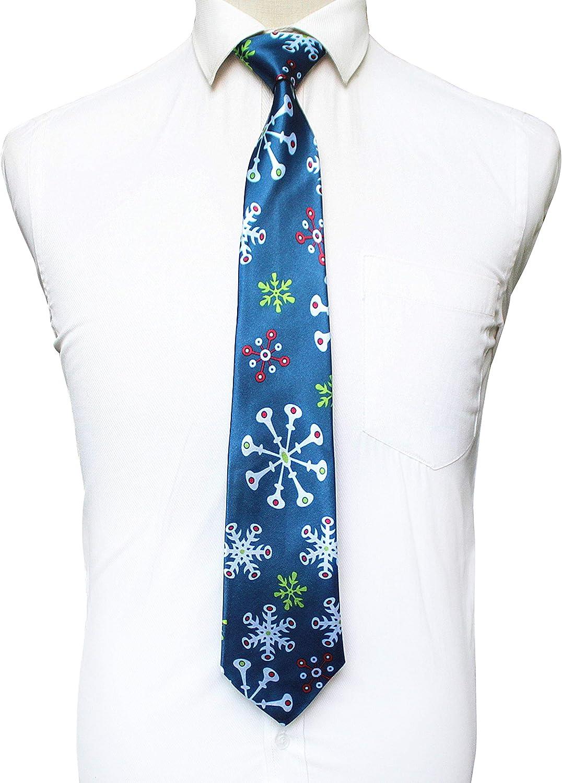RBOCOTT 4 St/ück Herren Weihnachts krawatte Weihnachts set