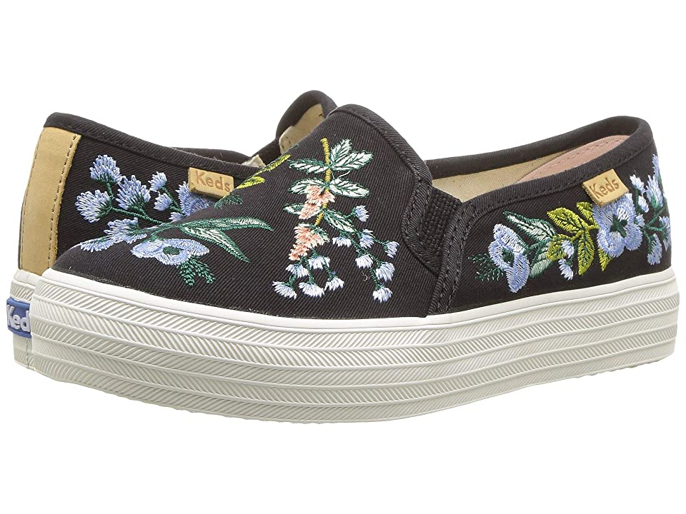 Keds x Rifle Paper Co. Kids Rifle Paper Triple Decker (Little Kid/Big Kid) (Herb Garden) Girl