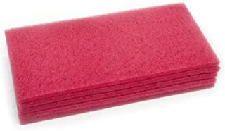 Clarke 997001 Commercial 14 Inch X 28 Inch Red Scrubber/Buffing Pad, Case of 5