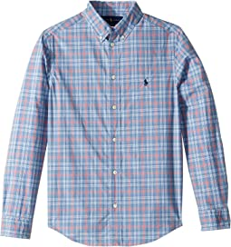 Plaid Cotton Poplin Shirt (Big Kids)