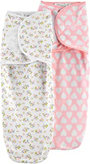 Simple Joys by Carter's Baby Girls' 3-Pack Cotton Swaddle Blankets