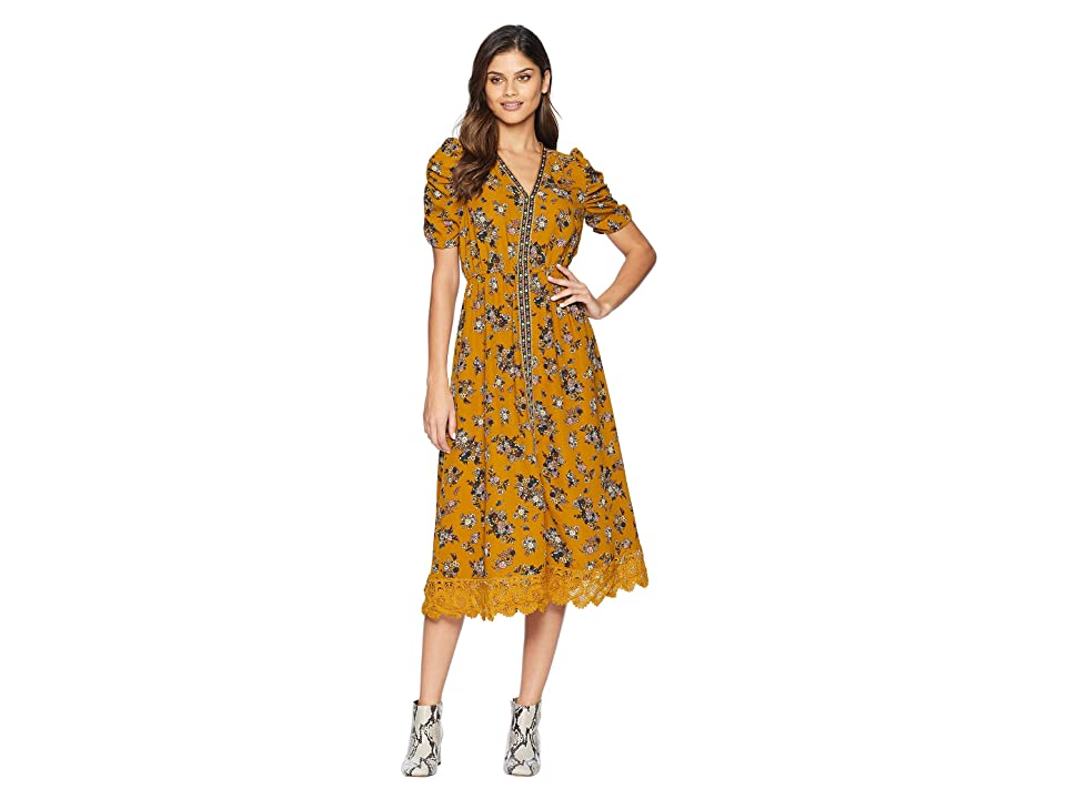 MOON RIVER Midi Dress (Golden Rod) Women