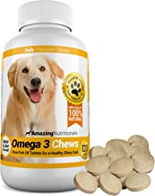 Amazing Omega for Dogs - Dog Fish Oil Pet Antioxidant for Shiny Coat, Joint and Brain Health - 120 Chews