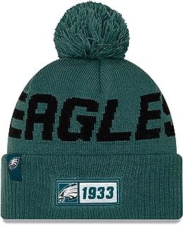 New Era 2019 NFL Philadelphia Eagles Cuff Knit Hat Road Beanie Stocking Cap Pom Forest Green
