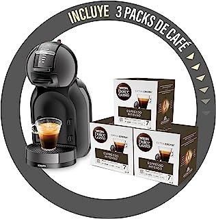 Krups Mini Me - Cafetera automática de sistema de cápsulas con 3 cajas de café, Thermoblock, Play&Select 35 variedades de ...