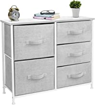 Sorbus Dresser with 5 Drawers - Furniture Storage Tower Unit for Bedroom, Hallway, Closet, Office Organization - Steel Fra...