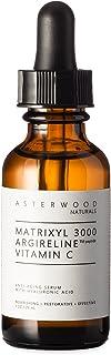 MATRIXYL 3000 + ARGIRELINE Peptide + Vitamin C 1 oz Serum with Organic Hyaluronic Acid,..