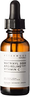 MATRIXYL 3000 + ARGIRELINE Peptide + Vitamin C 1 oz Serum with Organic Hyaluronic Acid, Reduce Sun Spots, Wrinkles, Our Most Powerful Triple Combination ASTERWOOD NATURALS Bottle