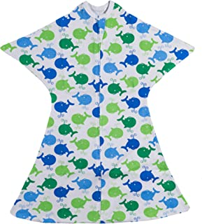Blue Whales Swaddle Transition Zipadee-Zip, Medium 6-12 Months (18-26 lbs, 29-33 inches)