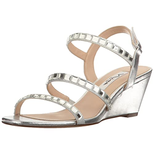 45e1fa6bda09b Silver Wedge Dress Shoes: Amazon.com