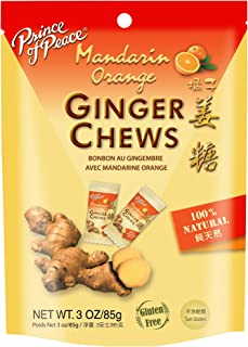Prince of Peace Ginger Chews with Mandarin Orange Prince Of Peace, 4.4 Oz Bag (Pack of 2)