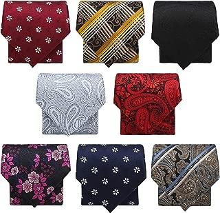 Zipper Ties for Men, 8 PCS Segarty Pre-tied Necktie Premade Neck Tie Mixed Lot