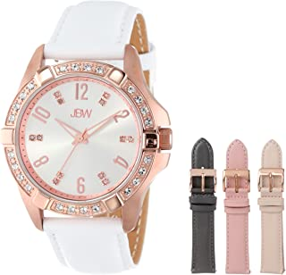 JBW Women's J6278-setC Rose Gold-Tone Watch with Four Interchangeable Leather Bands